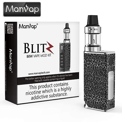 Vaper Cigarros Electronicos Manvap® Blit 80W E Cigarrillo Vape Mod con batería recargable Repuestos de