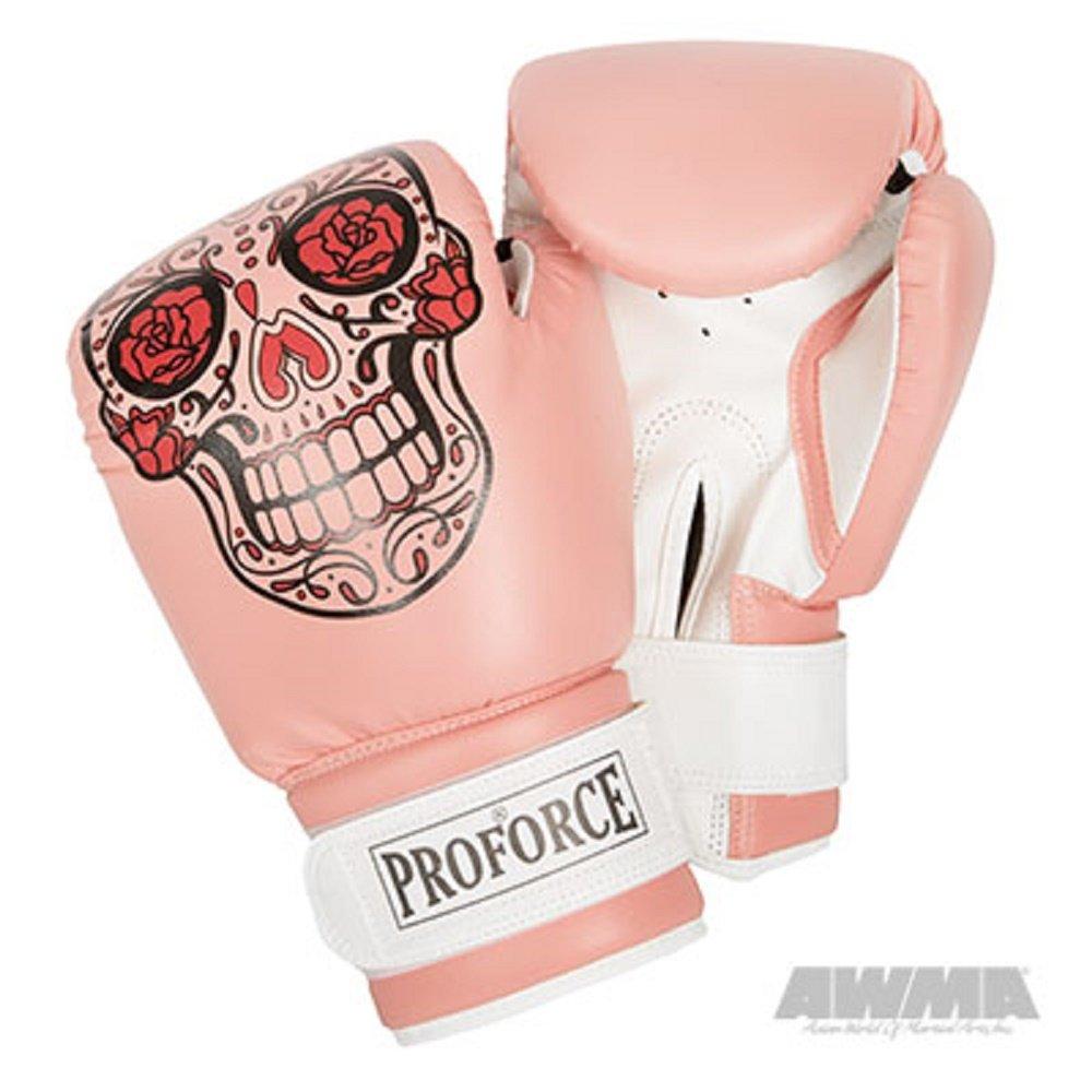 ProForce レザレットボクシンググローブ 白のパーム B07FN8V1F3 Sugar Skull 12 oz.