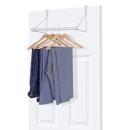 Umi. by Amazon - Ganchos para puerta, colgador para puerta, perchero de ropa tras puerta, blanco