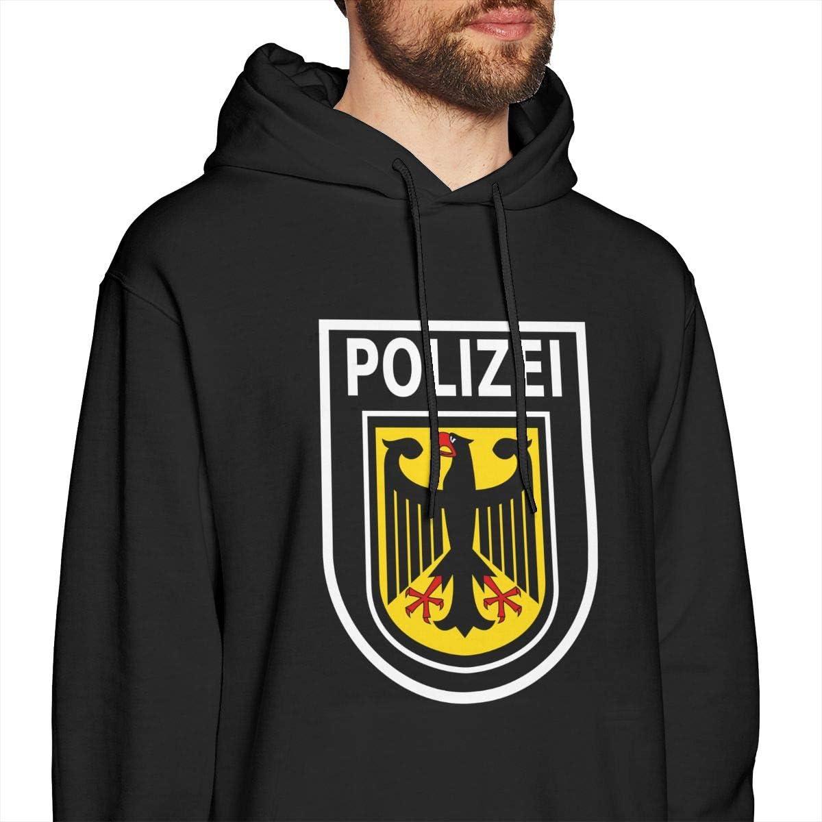 Mens Polizei German Seal Classic Pullover Hoodie Sportswear Hoodie Hooded Sweatshirt