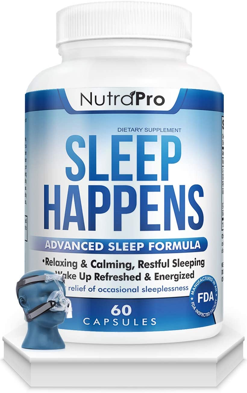 Sleep Aid for Adults - Deep Sleep and Anxiety Relief.Best Sleeping Pill for Energized Mornings. with Melatonin,GABA and 5-HTP. Extra Strength.Fall Asleep Faster with The Discomfort CPAP Mask.