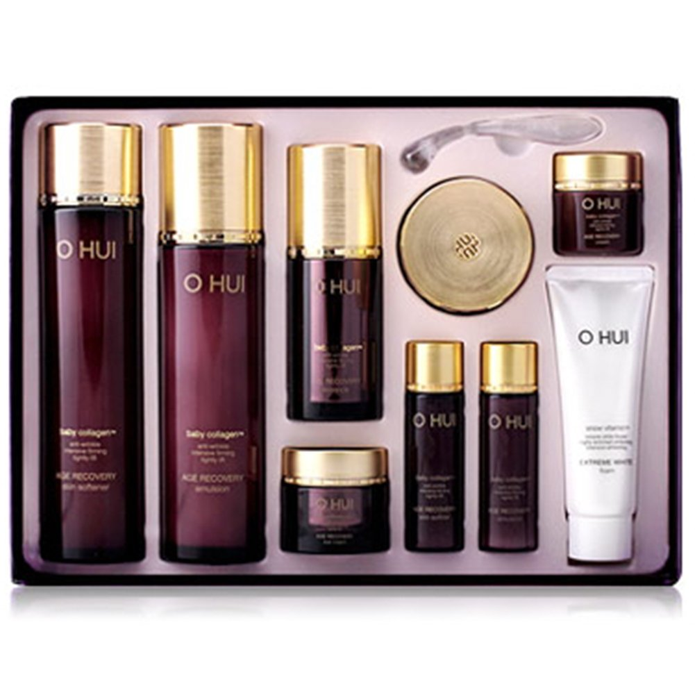 Ohui Age Recovery Special Set(Skin Softener, Emulsion, Super Anti-aging Essence, Cell-Lab Cream 4pcs)