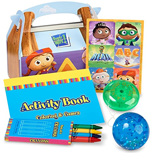 Super Why! Party Supplies - Filled Favor Boxes (4)