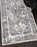 Unique Loom Rosso Collection Vintage Traditional Distressed Gray Runner (3′ x 10′) Review