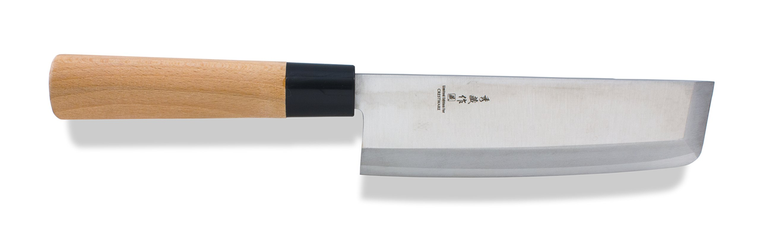 Crestware KN314 Nakiri Knife, 7'', Silver by CRESTWARE