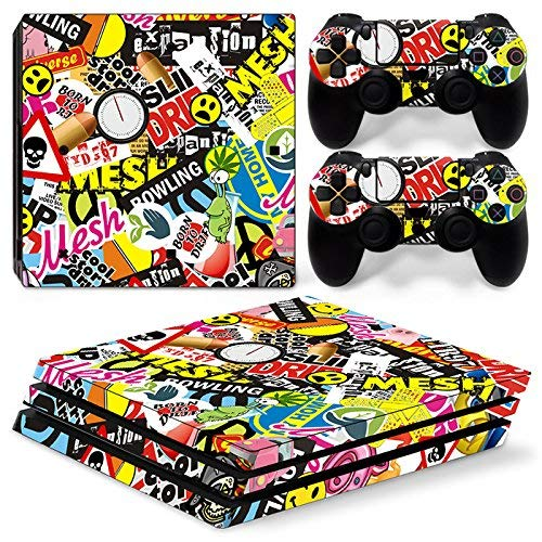 1 opinioni per 46 North Design pieno sticker della pelle skin Graffiti per le console PS4 Pro x