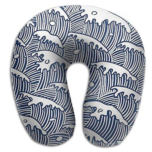 Ocean Sea Wave Super Soft Neck Pillow Spa Memory Foam U-SHAPE For Help Neck Pain Man - Majestic Heater