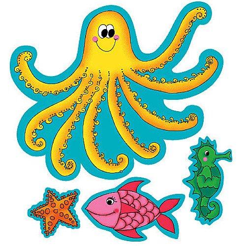 Wallies 12527 K.P. Kids Sea Creatures Wallpaper Cutout