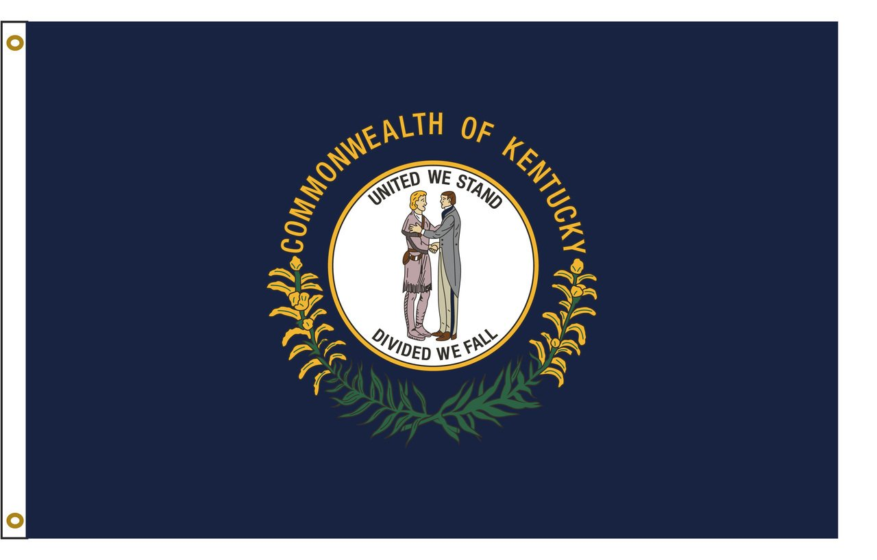 Flags Poles And More Kentucky 8ftx12ft Nylon State Flag 8x12 Made In USA 8'x12'