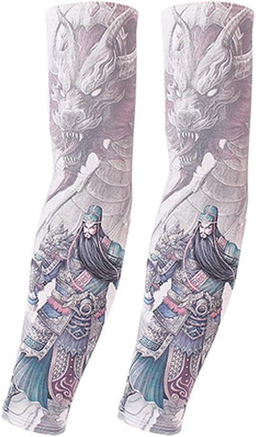 LJSHU A Prueba de polillas de los Hombres Mangas de Tatuajes ...