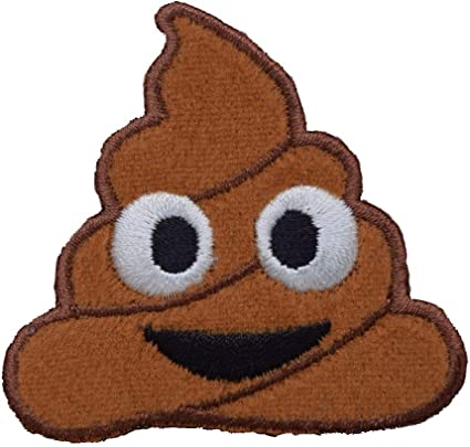 Poop Emoji Patch Iron on Sew on Embroidered Patch