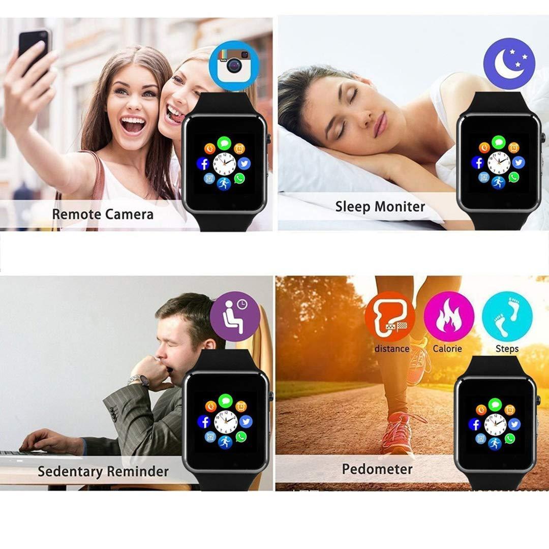 Smart Watch Bluetooth Fitness Tracker, Qidoou Android iOS Compatible Smartwatch of SIM SD Card Slot, Waterproof Pedometer Sleep Calorie Monitor Call/Message Music Clock for Kids Men Women (Black) by Qidoou (Image #10)