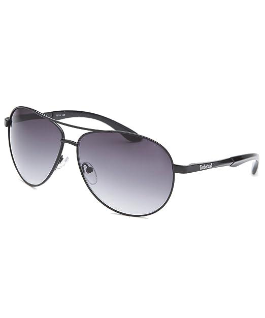 Amazon.com: Timberland anteojos de sol Black Metal Aviator ...