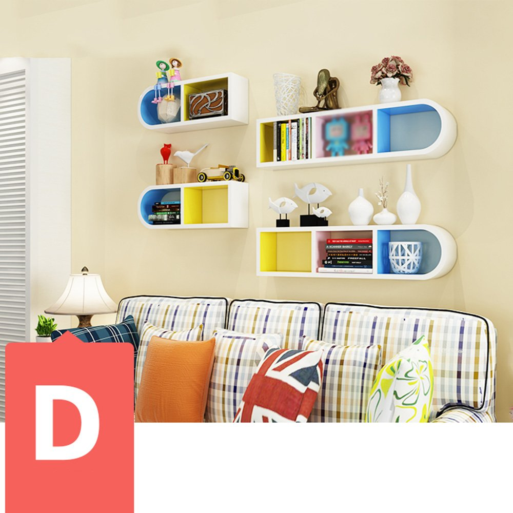 Wand Bücherregal Wohnzimmer Eckgestell Wandregale Lernen Sie kreative Trennwand dekorativen Rahmen Schlafzimmer Regale Wanddekoration (Mehrfache Arten vorhanden) ( Farbe : D )