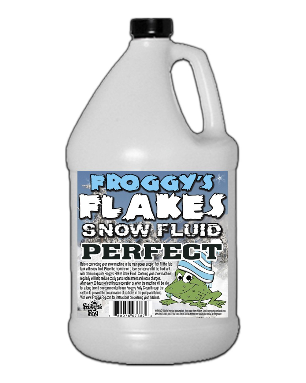 Froggys Snow Juice - 1 Gallon Evaporative Fluid for Artificial Snow Flake Machines