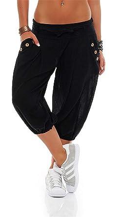Sommerhose Damen Hipster Loose 3 4 Hose Pumphose Elegante Fashion Vintage  Classic Kleidung Caprihose Hippie Hose Freizeithose Kleidung  Amazon.de  ... 5938addc35