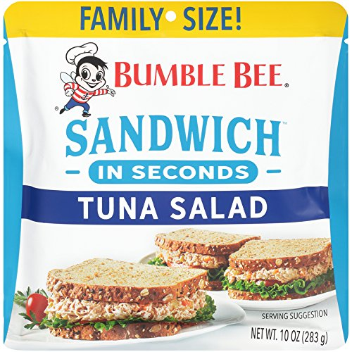 Bumble Bee Sandwich in Seconds Tuna Pouch, Tuna Salad Pouch, High Protein, 10 Ounce, 1 Pouch ()