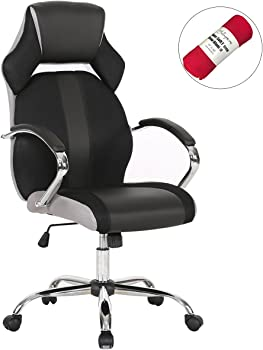 HollyHOME High Back Mesh and PU Leather Office Executive Chair