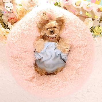 Lamzoom Deluxe Cama para Mascotas para Gatos pequeños y medianos Perros Cuddler con cojín Suave Redondo Ovalado Donut Nesting Cave Cama para Gato Cama para ...