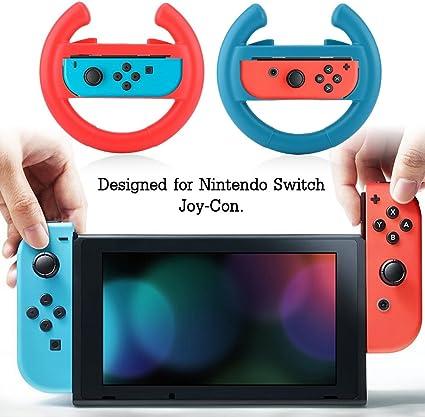 VBESTLIFE, Volantes de Juego, un par de Volantes de Consola de Juego para Nintendo Switch Joy-con/Izquierda y Derecha/Múltiples Funciones: Amazon.es: Electrónica