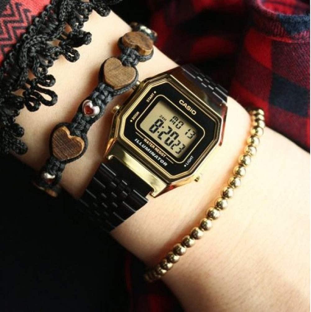 Casio Reloj Digital para Mujer de Cuarzo con Correa en Acero Inoxidable LA680WEGB-1AEF: Amazon.es: Relojes