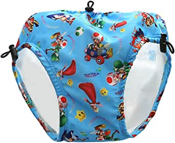 Acacia 33-48 LB Swim Diapers Waterproof Reusable Swim Diaper Baby Dress Pool for Kids