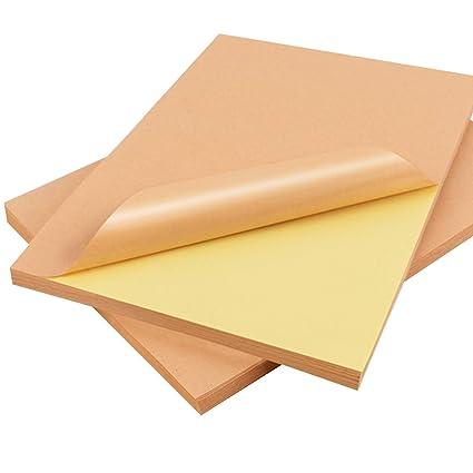 Papel adhesivo Kraft marrón claro Hoja completa, papel de ...