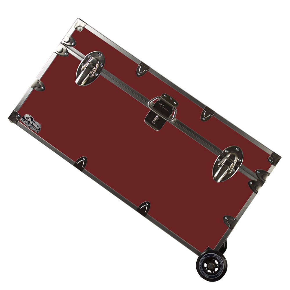 College Dorm Room & Summer Camp Lockable Trunk Footlocker with Wheels - Undergrad Trunk by C&N Footlockers - Available in 20 colors - Large: 32 x 18 x 16.5 Inches