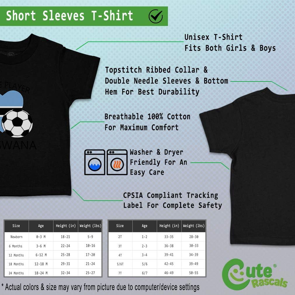 Custom Baby /& Toddler T-Shirt Future Soccer Player Botswana Boy Girl Clothes