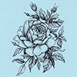 DaLin 4 Sheets Sexy Temporary Tattoos for Men Women Flowers Collection