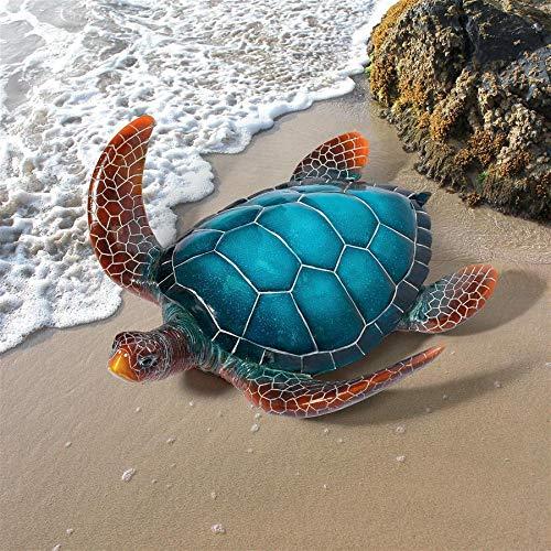 (Design Toscano QL59584 Blue Sea Turtle Statue, Full Color)