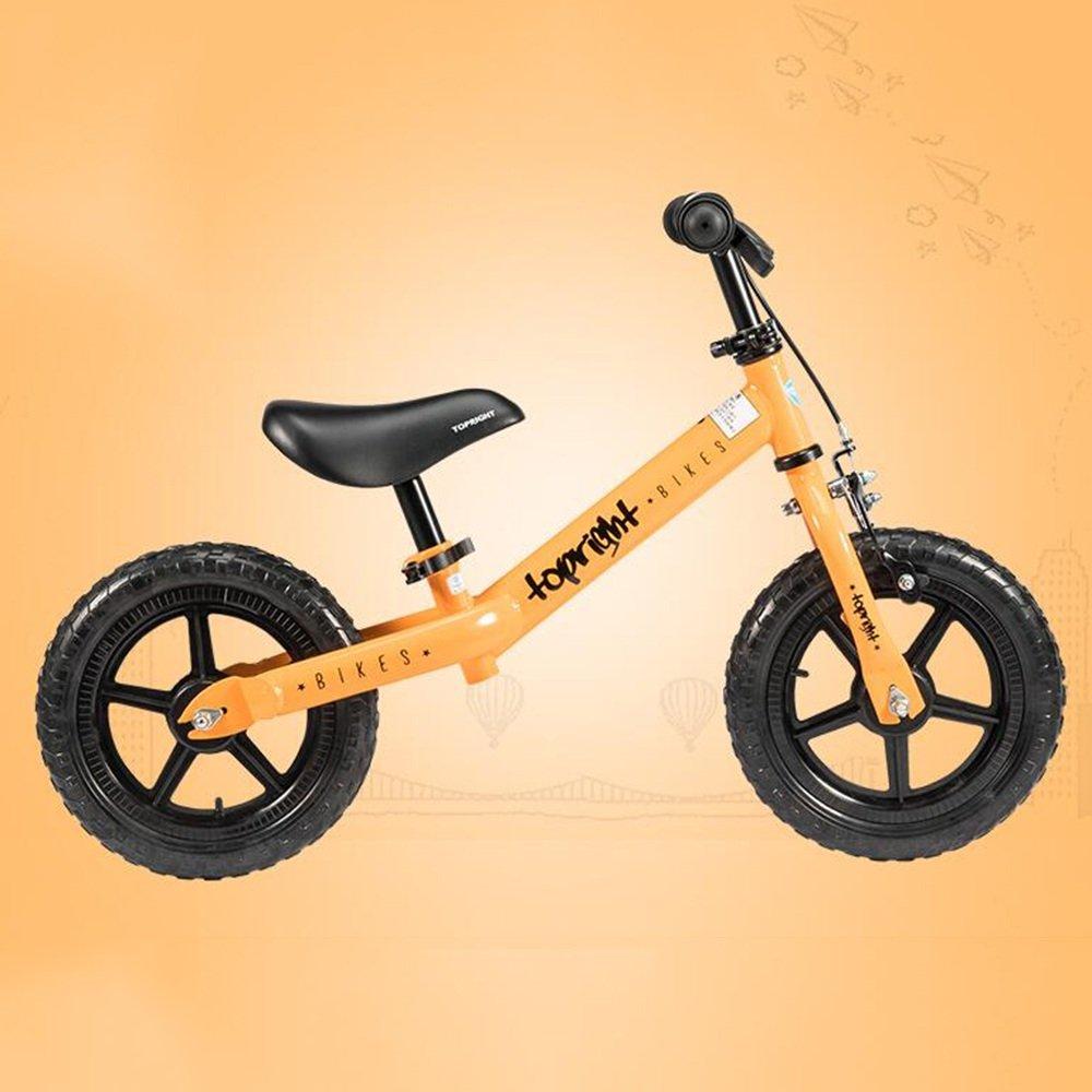 HAIZHEN マウンテンバイク 年齢1.55歳のバイク ベストスポーツバイクボーイズ&ガールズ キッズは、軽いファーストバイクでトリシクルをスキップします 新生児 B07C3ZP3CG オレンジ オレンジ
