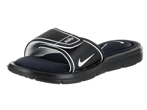 7448a7c7861e Nike Womens Comfort Slide Black White Sandal 8 B - Medium  Amazon.in  Shoes    Handbags