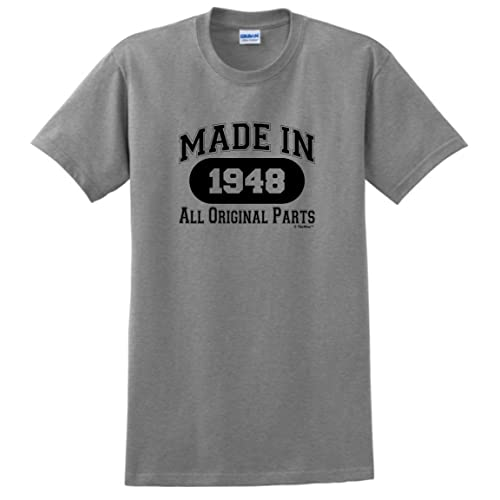 70th Birthday Gifts Made 1948 All Original Parts T Shirt