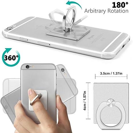 Senhai Handyhalter 4 Pack Universal Smartphone Ring Grip Standplatz Auto Halterungen Für Iphone Ipad Samsung Htc Nokia Smartphones Tablet 4 Silber Elektronik