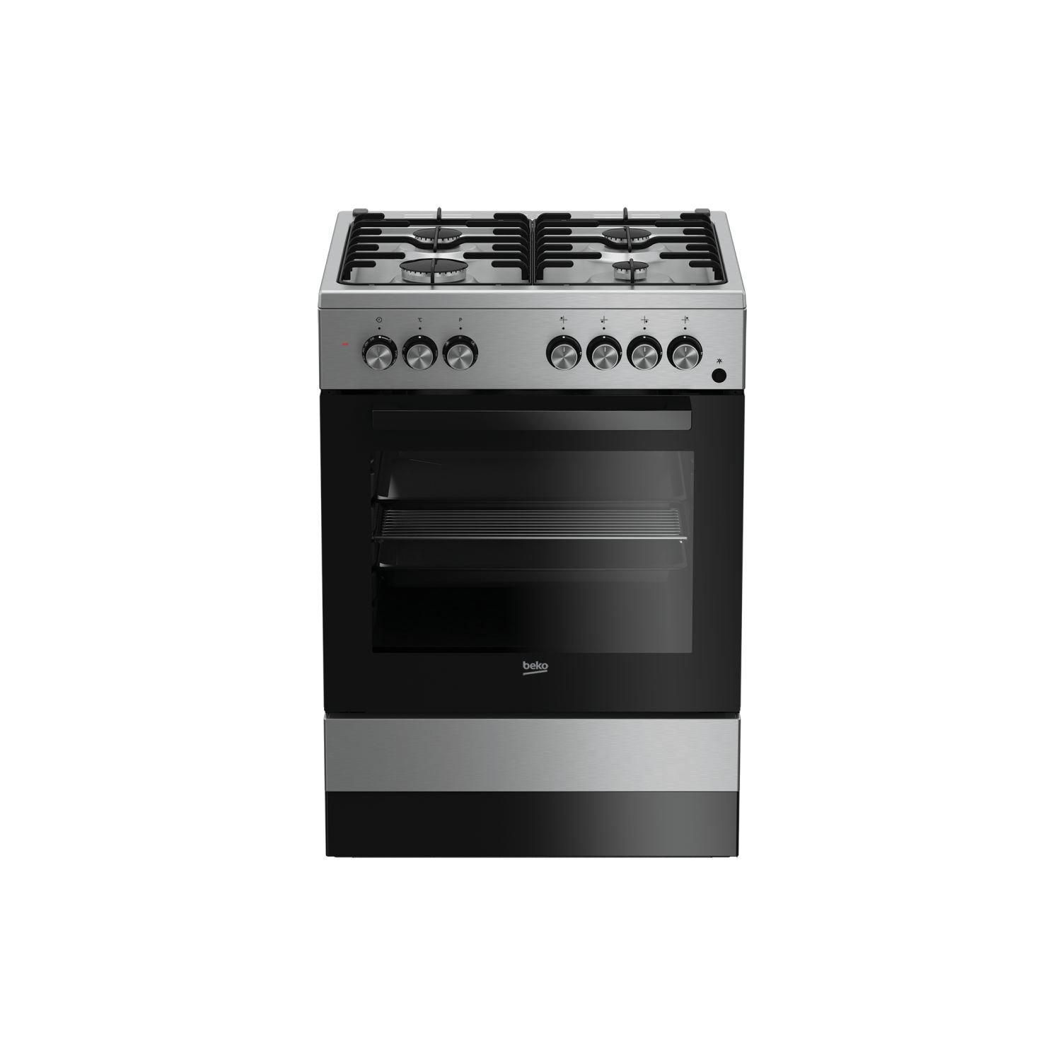 Beko CSE 62110 DX Independiente Gas hob A Negro, Acero ...