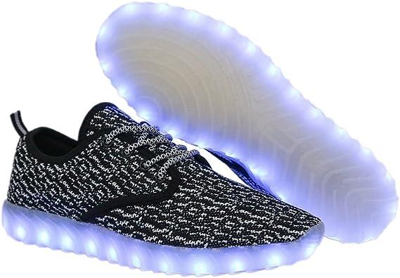 Children LED Flash Light Up Luminous Sneaker Boys GirlsB Charge Shoes NEW