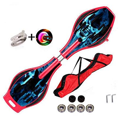 Snow Eagle RipStik Brights | Caster Board 32-inch (ABS Enhanced Skull red Flash Version) : Sports & Outdoors