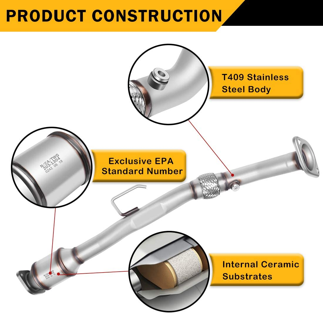 Catalytic Converter for 02-06 Nissan Altima 04-08 Nissan Maxima 04-09 Nissan Quest 3.5L Sedan 4-Door Firewall Side//Bank 1 EPA Compliant