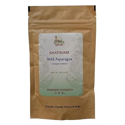 Shatavari (Asparagus racemosus) en polvo, Certificado ecológico por LACON GmbH en Europa,