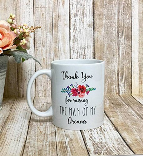 thank you for raising the man of my dreams mug / mother of the groom / mother in law gift / wedding gift / mother in law gift / MIL - Beer Mile Video