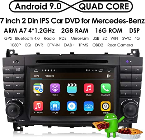 Universal 2Din Car Auto Radio GPS Navigation,hizpo 7 inch Touchscreen Android 8.1 OS 2GB RAM In Dash MultiMedia Player Wifi BT Support DAB+//Digital TV//OBD2//DVR//TPMS//4G Network