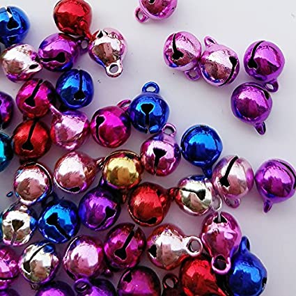 12mm Chenkou Craft Copper 50pcs for Christmas Fashion Jingle Bell for DIY Bracelet Anklets Necklace Knitting Jewelry Making Accessories