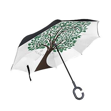 Soloatman Nature Paraguas Plegable de Viaje Resistente al Viento ...