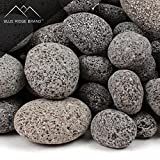 Blue Ridge Brand trade; Lava Rock – 25-Pound Tumbled Lava Stone Assortment for Fire Pit – 1″ to 2″ Black/Gray Lava Pebble Mix – Landscaping Rocks