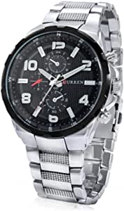 Curren Casual Watch For Men Analog Stainless Steel silver - 8276