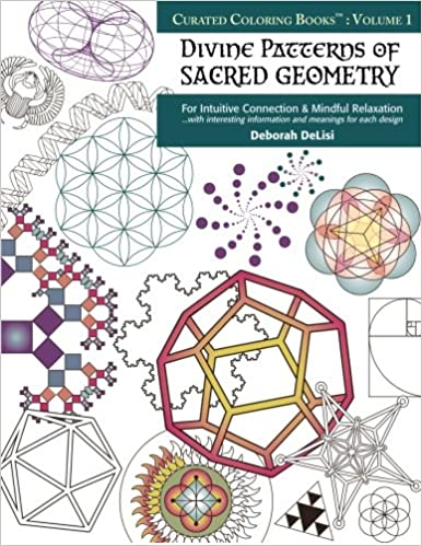 Amazon.com: Divine Patterns of Sacred Geometry Coloring Book: For ...