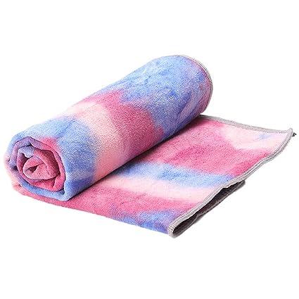 ASDFGH Lazo teñido Gradiente Yoga Mat Toalla, Portátil con ...