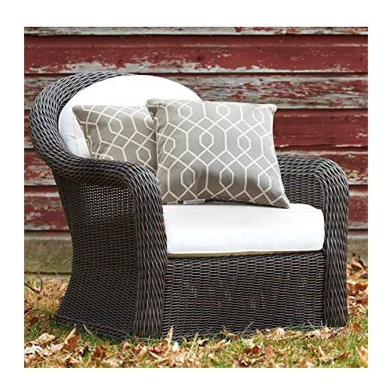 """TINA'S HOME 16"""" Grey Outdoor Pillows/Waterproof Geometric Throw Pillow for Patio Bench Swing Couch Decor(Set of 2) - ♥Product Includes: two (2) outdoor pillows, resists weather and fading in sunlight; Suitable for indoor and outdoor use ♥Plush Fill: 100-percent down alternative filling, offers extra back support and holds in shape ♥Easy Care - lightly spot clean or hand wash outdoor pillow fabric with mild detergent and cool water; then let air dry - patio, outdoor-throw-pillows, outdoor-decor - 61el4Kbq8oL. SS570  -"""