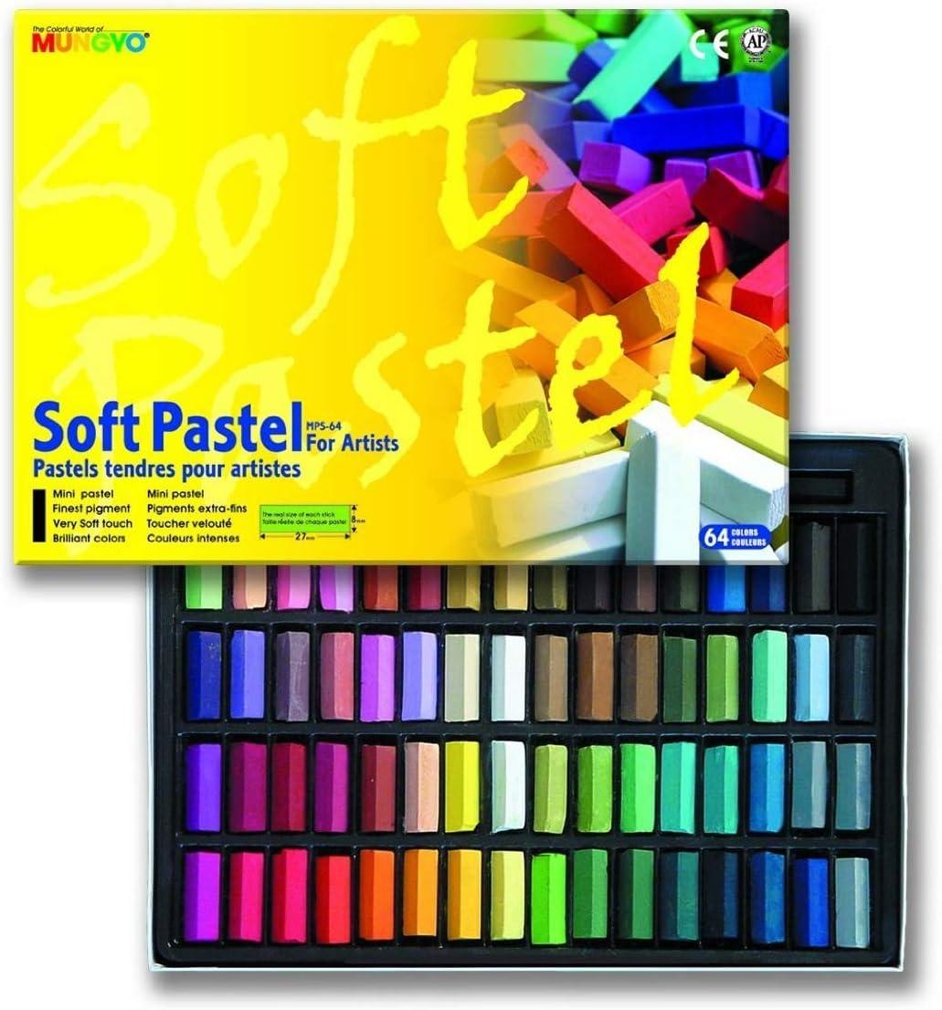 64 tizas pastel de colores, mungyo